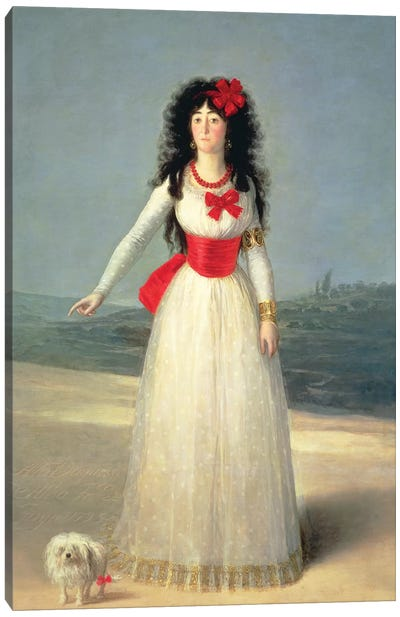 Duchess Of Alba (The White Duchess), 1795 Canvas Art Print
