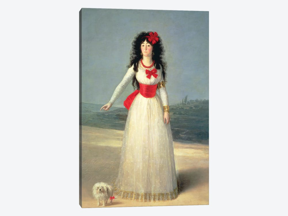 Duchess Of Alba (The White Duchess), 1795 by Francisco Goya 1-piece Canvas Art