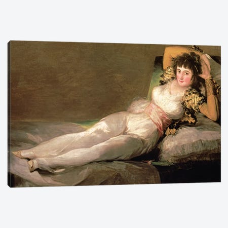 The Clothed Maja, c.1800 Canvas Print #BMN7055} by Francisco Goya Canvas Art