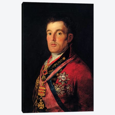 The Duke Of Wellington, 1812-14 Canvas Print #BMN7056} by Francisco Goya Canvas Wall Art