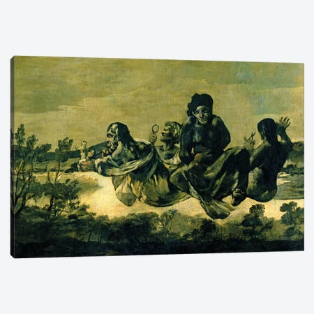 The Fates, 1819-23 Canvas Print #BMN7057} by Francisco Goya Canvas Artwork