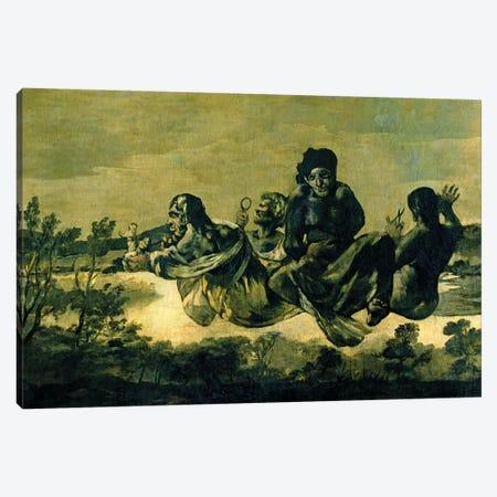 The Fates, 1819-23 Canvas Print #BMN7057} by Francisco Goya Canvas Artwork