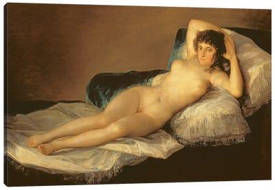 The Naked Maja, c.1800 Canvas Art Print