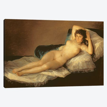 The Naked Maja, c.1800 Canvas Print #BMN7059} by Francisco Goya Canvas Print