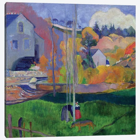 Brittany Landscape: the David Mill, 1894  Canvas Print #BMN705} by Paul Gauguin Canvas Art