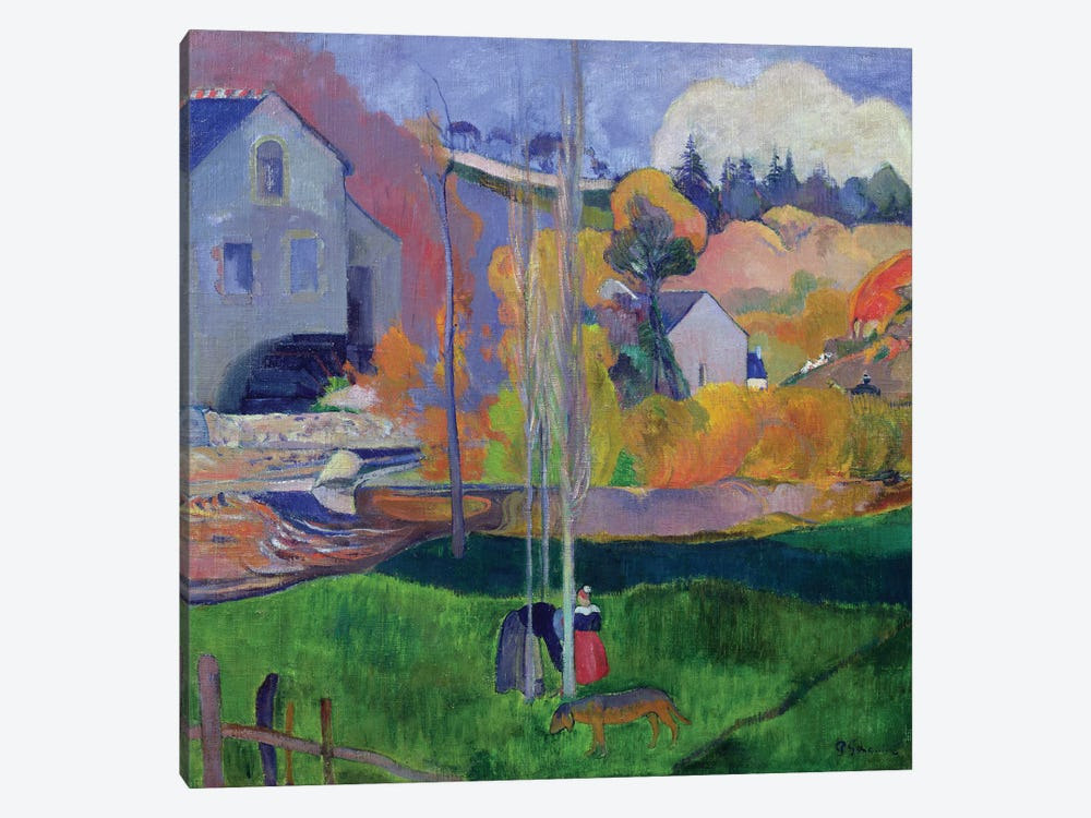Brittany Landscape: the David Mill, 1894  by Paul Gauguin 1-piece Canvas Art Print