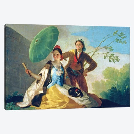 The Parasol, 1777 Canvas Print #BMN7060} by Francisco Goya Canvas Art