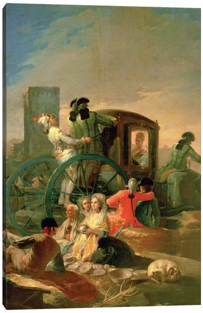 The Pottery Vendor, 1779 Canvas Art Print