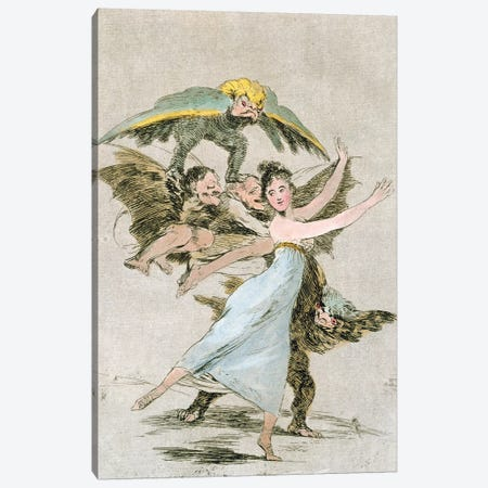 You Will Not Escape (Illustration From Los Caprichos), 1799 Canvas Print #BMN7062} by Francisco Goya Canvas Artwork