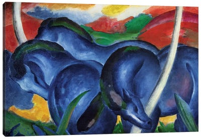 Big Blue Horses, 1911 Canvas Art Print