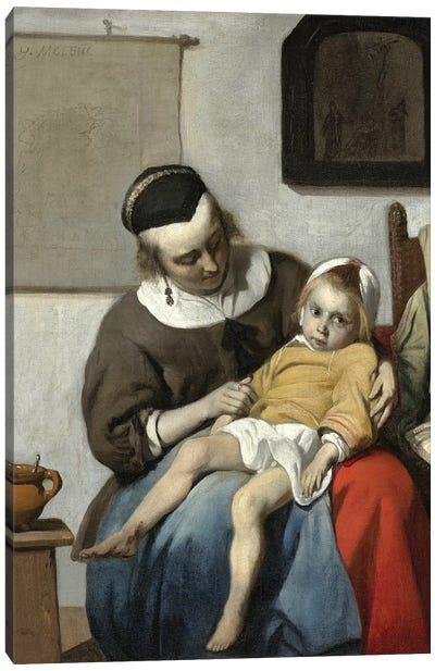 The Sick Child, c.1664-66 Canvas Art Print