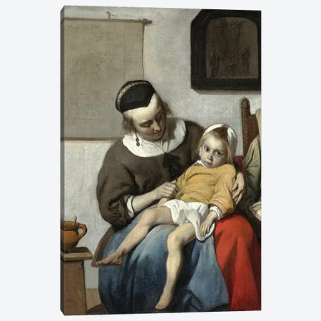 The Sick Child, c.1664-66 Canvas Print #BMN7065} by Gabriel Metsu Canvas Print