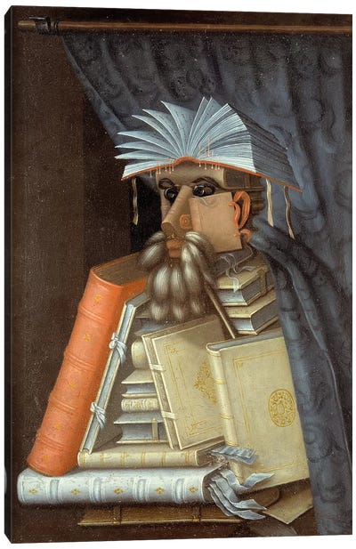 Portrait Of A Librarian, c.1566 Canvas Art Print