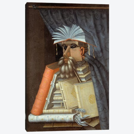 Portrait Of A Librarian, c.1566 Canvas Print #BMN7068} by Giuseppe Arcimboldo Canvas Wall Art