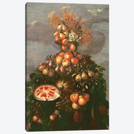 Summer Canvas Print #BMN7069} by Giuseppe Arcimboldo Canvas Artwork