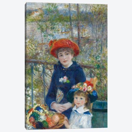 Two Sisters, or On The Terrace, 1881 Canvas Print #BMN706} by Pierre-Auguste Renoir Canvas Wall Art