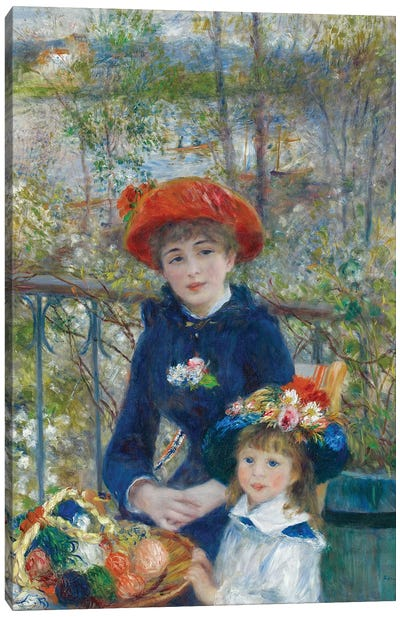 Two Sisters, or On The Terrace, 1881 Canvas Art Print