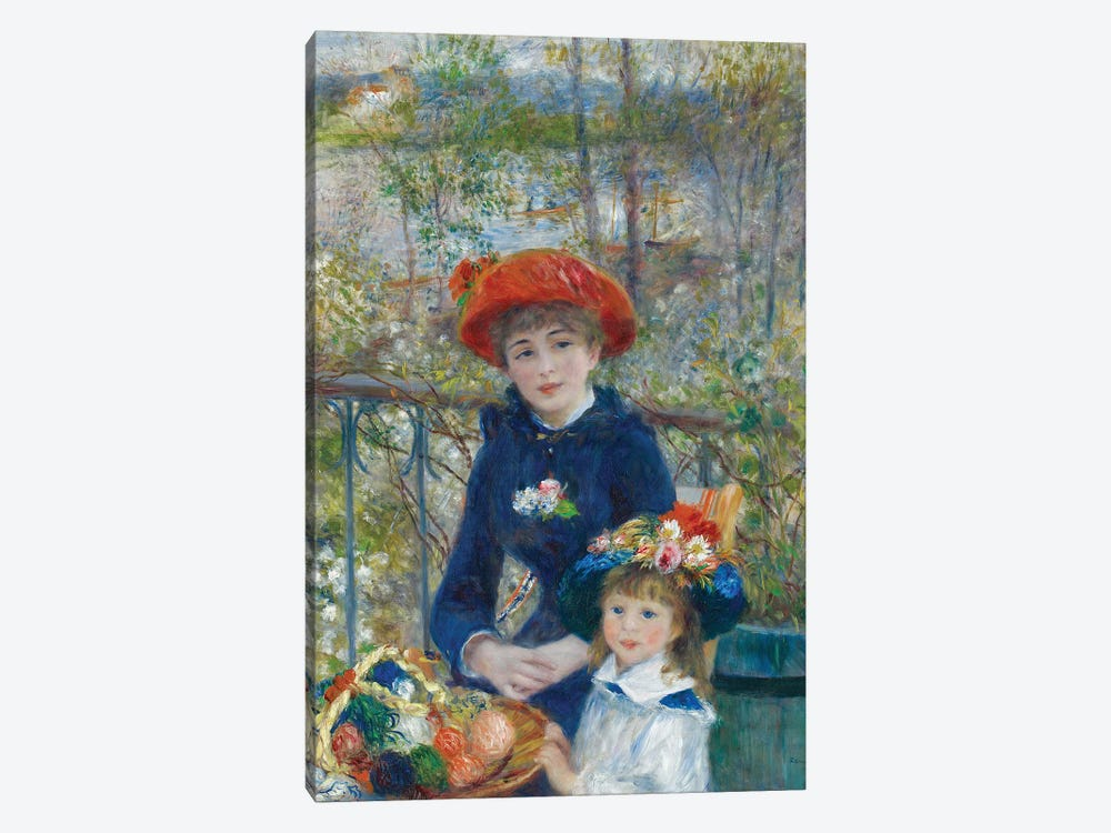 Two Sisters, or On The Terrace, 1881 by Pierre-Auguste Renoir 1-piece Canvas Art