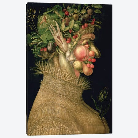 Summer, 1563 Canvas Print #BMN7070} by Giuseppe Arcimboldo Art Print