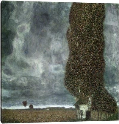 Approaching Thunderstorm (The Large Poplar II), 1903 by Gustav Klimt Canvas Art Print