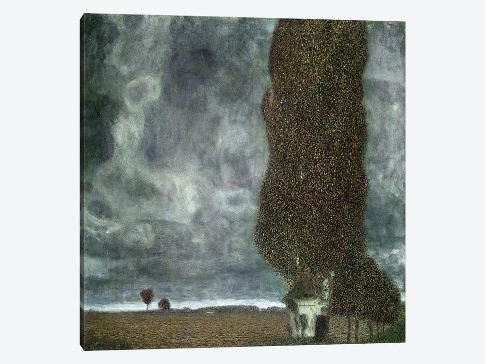 Approaching Thunderstorm (The Large Poplar II), 1903 by Gustav Klimt 1-piece Canvas Artwork