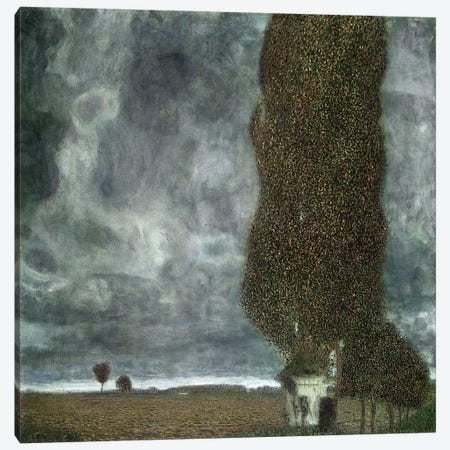 Approaching Thunderstorm (The Large Poplar II), 1903 Canvas Print #BMN7076} by Gustav Klimt Canvas Wall Art