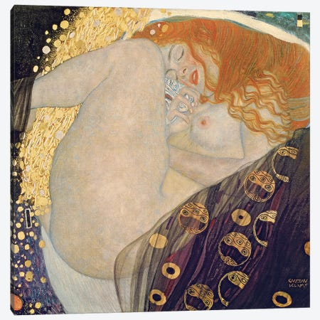 Danae, 1907-08 Canvas Print #BMN7077} by Gustav Klimt Canvas Wall Art