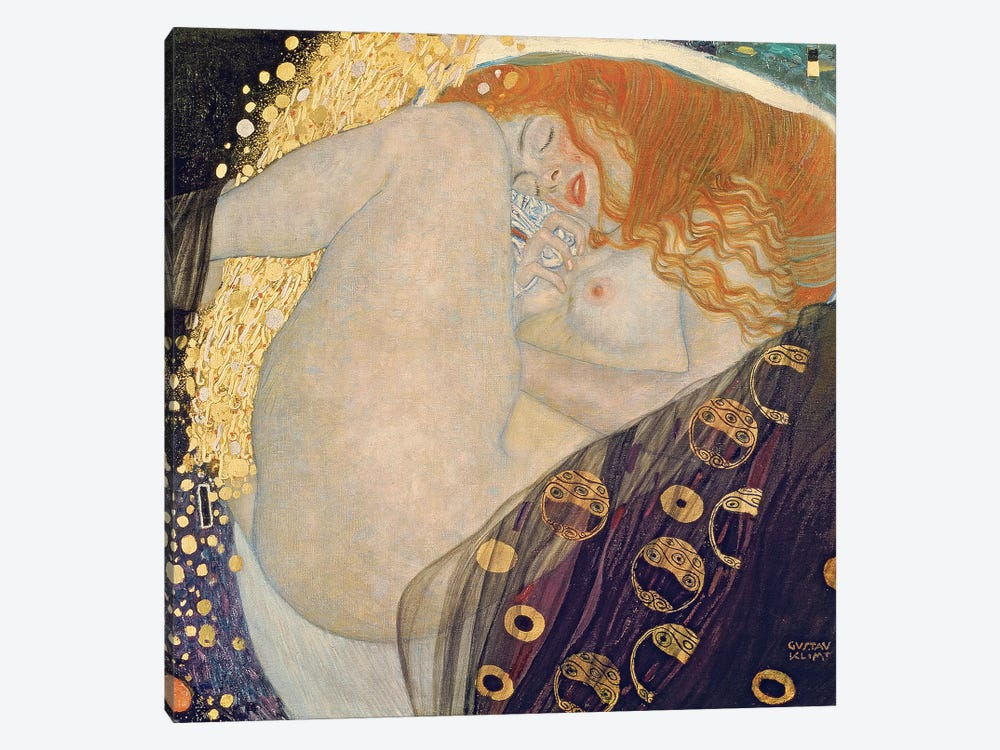Danae, 1907-08 by Gustav Klimt 1-piece Canvas Art Print