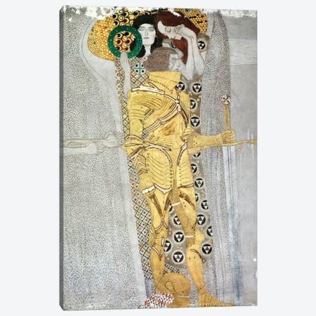 Detail Of The Knight, Beethoven Frieze, 1902 Canvas Print #BMN7078} by Gustav Klimt Canvas Art Print