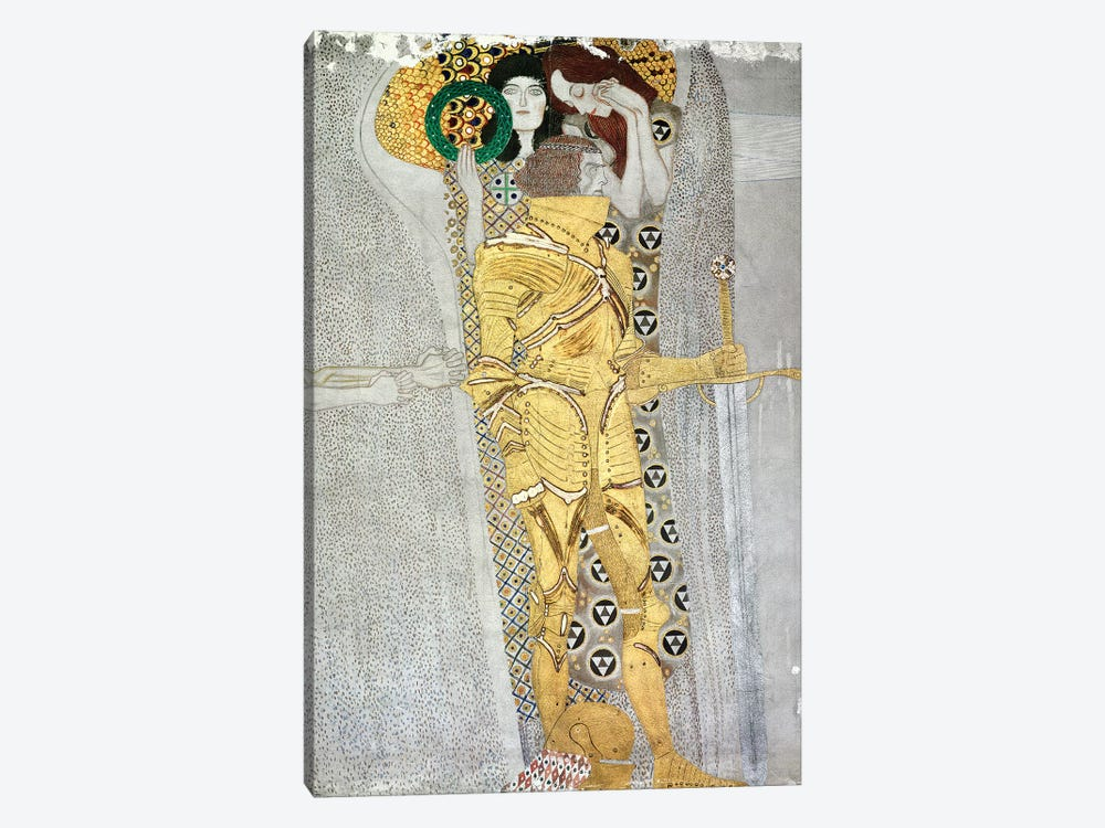 Detail Of The Knight, Beethoven Frieze, 1902 by Gustav Klimt 1-piece Canvas Wall Art