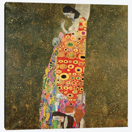 Die Hoffnung II (The Hope II), 1907-08 Canvas Print #BMN7079} by Gustav Klimt Canvas Print