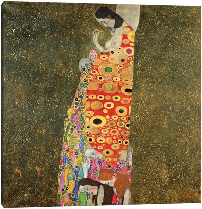 Die Hoffnung II (The Hope II), 1907-08 by Gustav Klimt Canvas Art Print