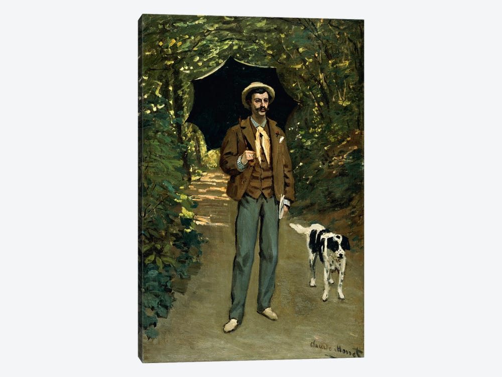 Man with an Umbrella, c.1868-69  by Claude Monet 1-piece Art Print