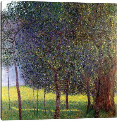 Fruit Trees, 1901 by Gustav Klimt Canvas Art Print