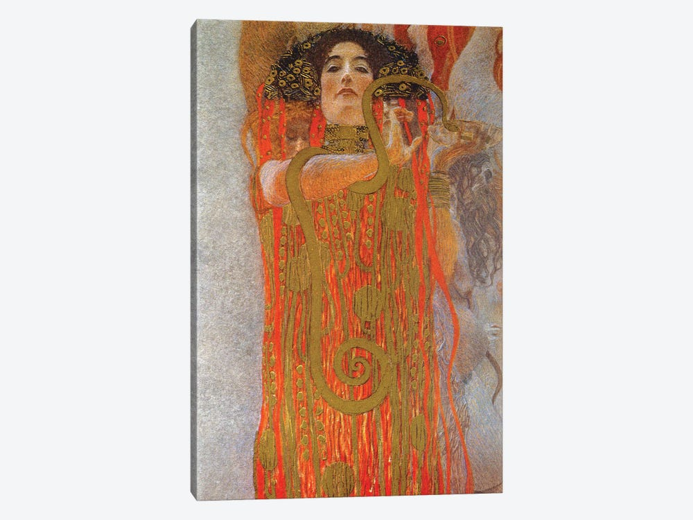 Hygieia, 1900-07 by Gustav Klimt 1-piece Canvas Artwork