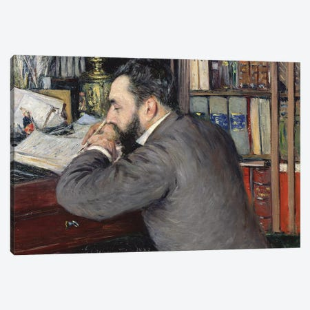 Portrait Of Henri Cordier (Teacher At The School Of Oriental Languages), 1883 Canvas Print #BMN7082} by Gustave Caillebotte Canvas Artwork