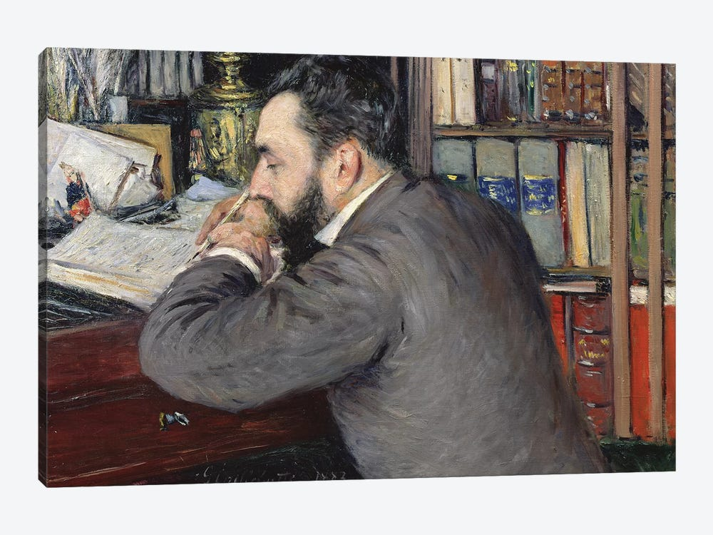 Portrait Of Henri Cordier (Teacher At The School Of Oriental Languages), 1883 by Gustave Caillebotte 1-piece Canvas Print