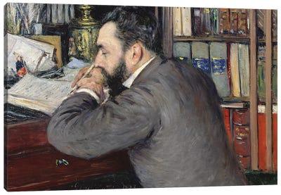 Portrait Of Henri Cordier (Teacher At The School Of Oriental Languages), 1883 Canvas Art Print