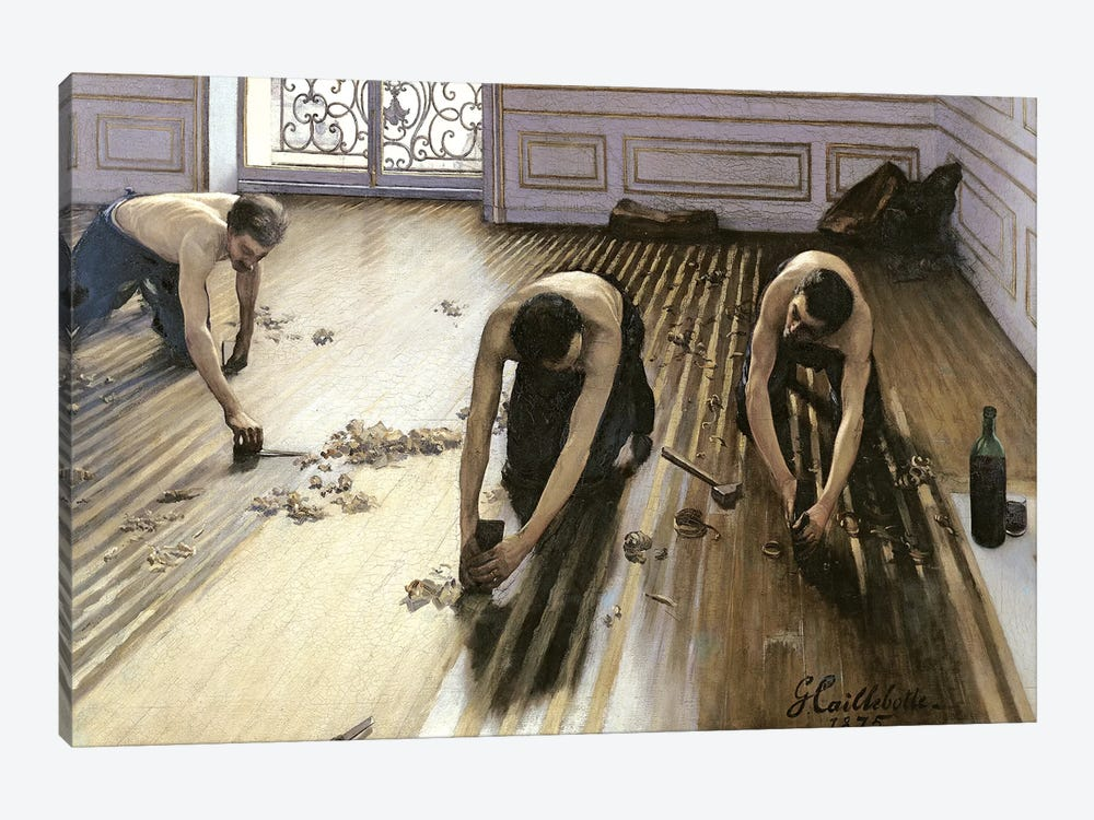 The Parquet Planers, 1875 1-piece Canvas Art