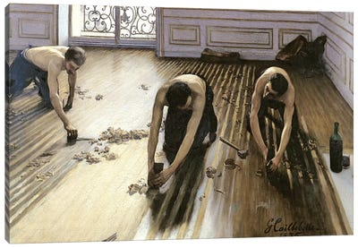 The Parquet Planers, 1875 Canvas Art Print
