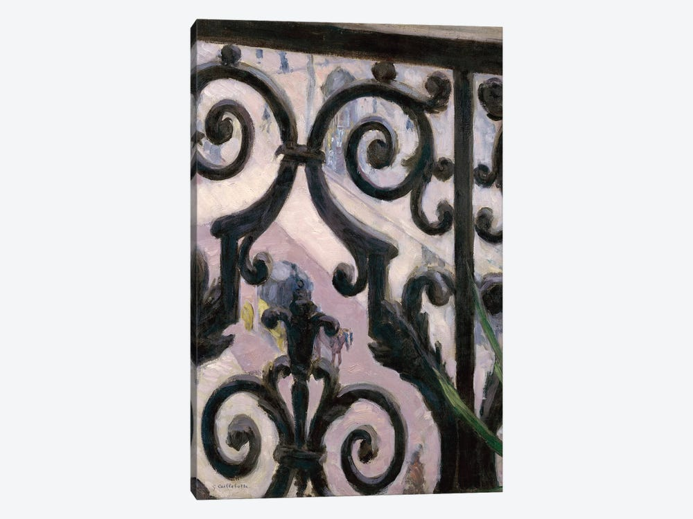View From A Balcony, 1880 by Gustave Caillebotte 1-piece Canvas Wall Art