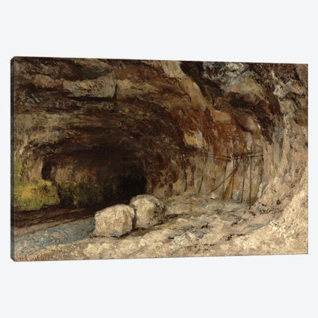 Grotto Of Sarrazine Near Nans-sous-Sainte-Anne, c.1864 Canvas Print #BMN7087} by Gustave Courbet Canvas Art Print