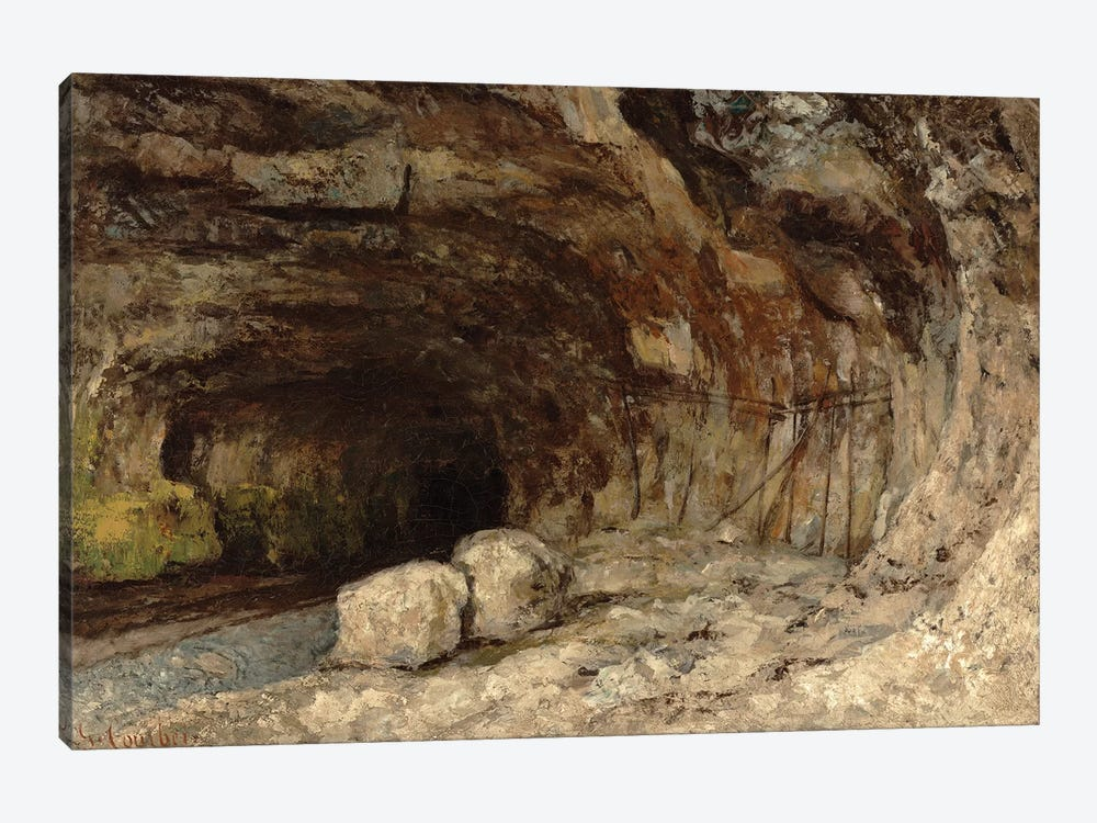 Grotto Of Sarrazine Near Nans-sous-Sainte-Anne, c.1864 by Gustave Courbet 1-piece Canvas Wall Art