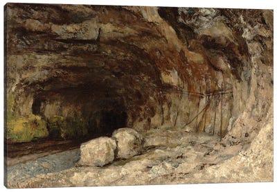 Grotto Of Sarrazine Near Nans-sous-Sainte-Anne, c.1864 Canvas Art Print