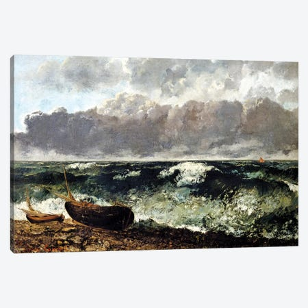 The Stormy Sea (The Wave), 1870 (Musee d'Orsay) Canvas Print #BMN7088} by Gustave Courbet Canvas Art