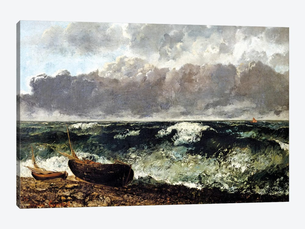 The Stormy Sea (The Wave), 1870 (Musee d'Orsay) by Gustave Courbet 1-piece Art Print