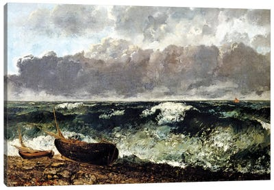 The Stormy Sea (The Wave), 1870 (Musee d'Orsay) Canvas Art Print