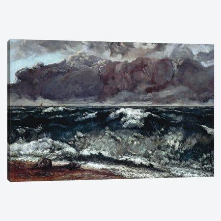 The Wave (Die Welle), 1870 (Alte Nationalgalerie) Canvas Print #BMN7089} by Gustave Courbet Canvas Artwork