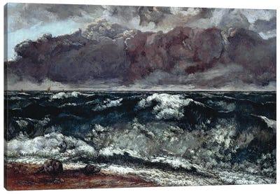 The Wave (Die Welle), 1870 (Alte Nationalgalerie) Canvas Art Print