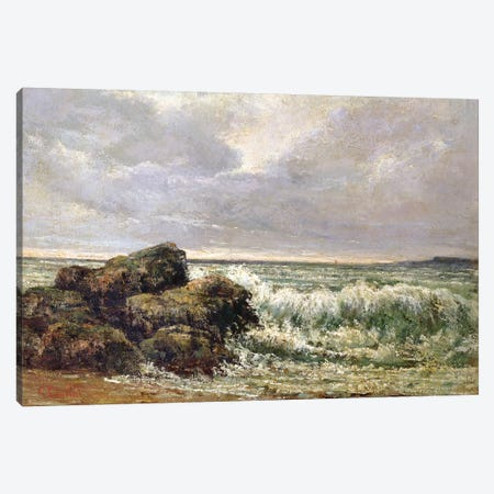 The Wave, 1869 (Pushkin Museum) Canvas Print #BMN7090} by Gustave Courbet Canvas Art Print